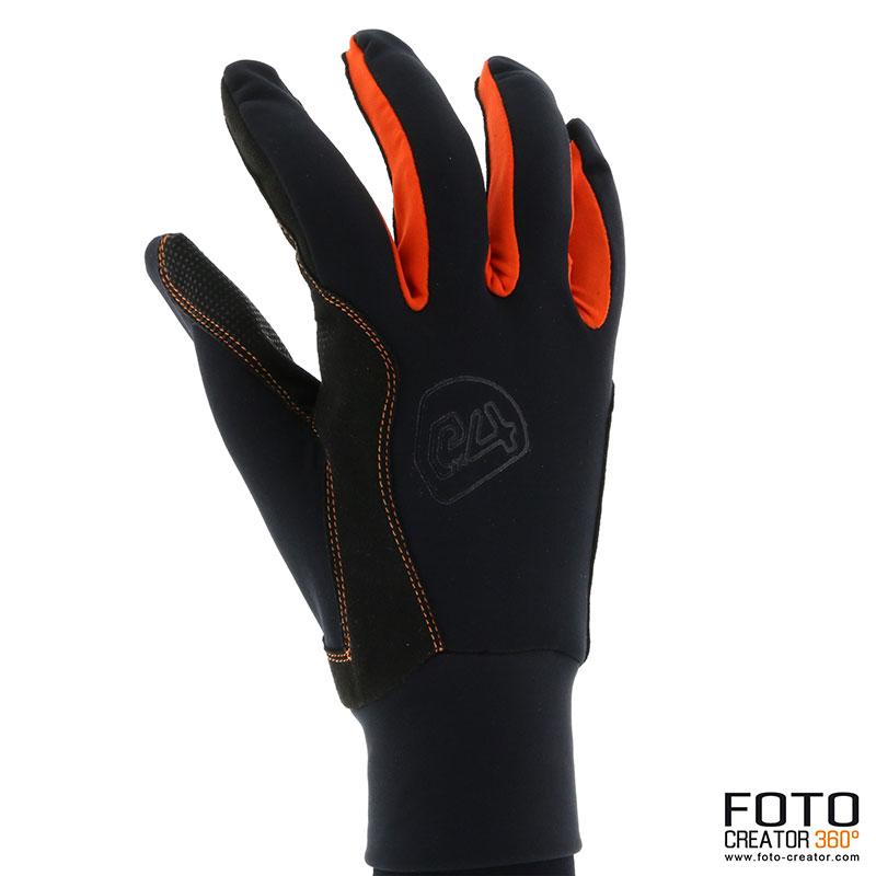 Ziener-Handschuh-orange-aussenseite