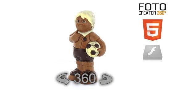 Eine 360° Animation eines Schokoladenfußballers im Html5 Format. Dank Javascript sichtbar auf dem iPad, iPod und iPhone und anderen nicht Flash fähigen Endgeräten. Bitte beachten Sie das diese 360° Animation weder… Weiter lesen…