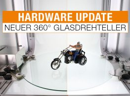 Hardware Update Neuer Glasdrehteller - der unterschied zwischen Normalglas und Milchglas